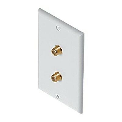 White RV MARINE X3 Single Gang Coaxial F Face Cable Tv Outlet Jack Wall Plate