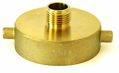 "2-1/2"" Female NST - NH x 5/8"" Male  GARDEN HOSE/HYDRANT BRASS ADAPTER"