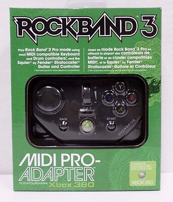 XBOX 360 Rock Band 3 MIDI PRO-Adapter - NEW - Xbox One Rock Band 4 compatible!