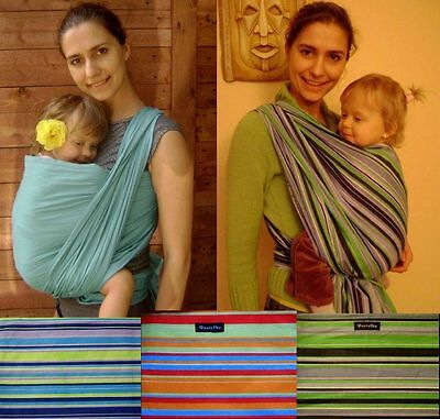BABY SLING WOVEN 100% COTTON WRAP CARRIER - BIRTH -3 yrs - BREASTFEEDING