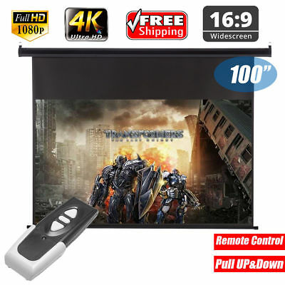 100 '' 16: 9 Electric Motorized FHD 1080P Projector Screen for Home and Office