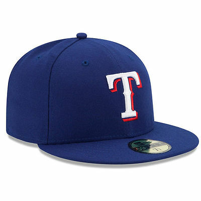 new concept 4fdd8 fc2f5 New Era TEXAS RANGERS 5950 Game Royal Blue Cap MLB Baseball 59Fifty Fitted  Hat