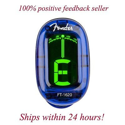 Fender Blue California Chromatic Headstock Tuner For Guitar, Bass, Uke, & Banjo