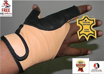 Bow Glove Left Hand & Right Hand ( Black &  Beige) All size available
