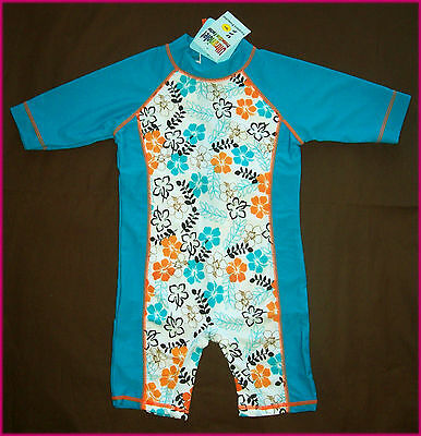 GIRLS RASH SUN SUIT Sz 3 4 5 6 - Rash Suit Rashi - SWIMWEAR / BATHERS TOGS - New