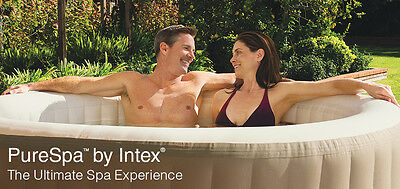 Genuine Intex Pure Inflatable Spa Heated Indoor Outdoor Hot Tub 5 Seat w Blower