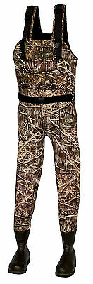 New 1200 Gram Shadow Grass Neoprene Fishing/Hunting Wader Lug Sz 11
