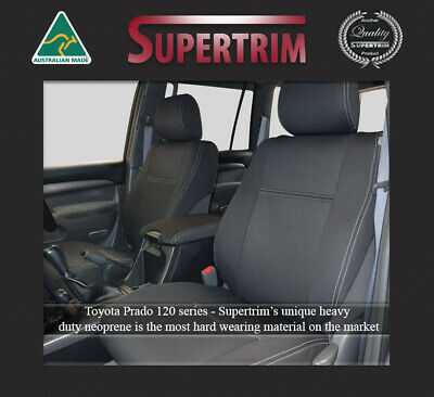 Toyota Prado 120 Series (2002-2009) Front Waterproof Neoprene Car Seat Covers