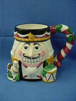 Tis the Season Christmas NUTCRACKER COFFEE MUG Oversize CIC USED