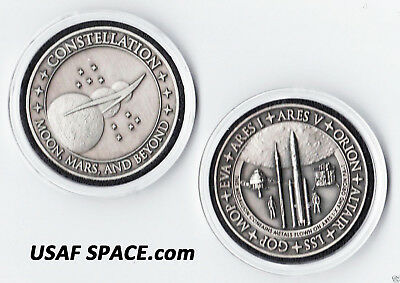 Nasa Constellation Ares 1 + Ares V + Orion Challenge Coin Containing Flown Metal