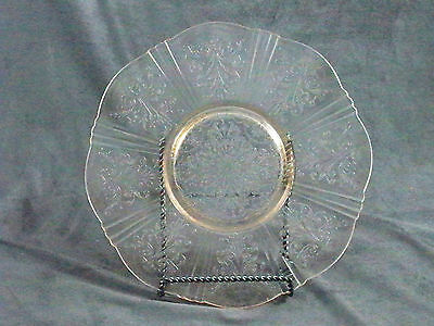 American Sweetheart Depression Glass  Pink Tray Salver