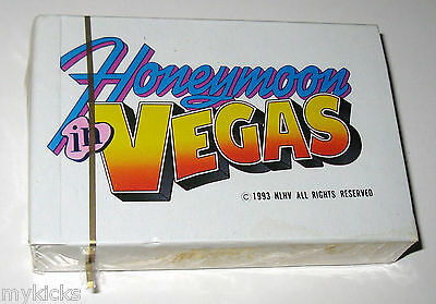 Promo Playing Cards: HONEYMOON IN VEGAS - Nicholas Cage & S.J. Parker SEALED NEW