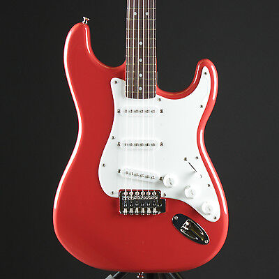 Squier by Fender Bullet Strat w/ Tremolo Fiesta Red Stratocaster Electric Guitar