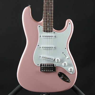 Squier by Fender Bullet Strat w/ Tremolo Pink Stratocaster Electric Guitar New