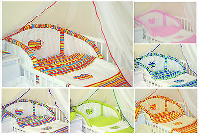 6 PCS BABY BEDDING SET - 10 DESIGNS and 2 SIZES - FITS COT OR COTBED