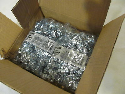 """Steel Hose Clamps Lot (2x 100) Size #4 (1/4"""" to 5/8"""") Screw Type Calhawk CAPAHC4"""