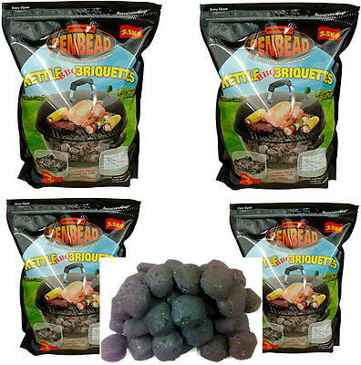 Bbq Charcoal Briquettes - Crazy Offer All In  4X3.5Kg (14Kg) Penbead+Free Cubes