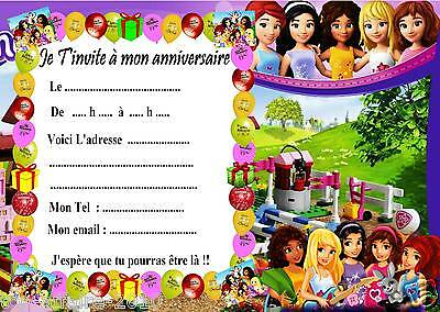 Greeting Cards Invitations 5 Ou 12 Cartes Invitation Anniversaire Violetta Ref 35 Candiidonline Com
