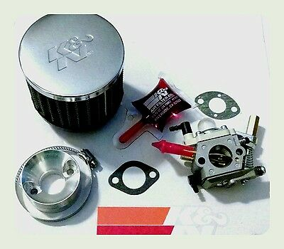 2 stroke gas scooter carburetor Walbro 700 HIGH PERFORMANCE K&N PACKAGE COMPLETE