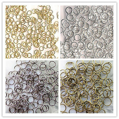 3mm,4mm,5mm,6mm,7mm,8mm,9mm,10mm Metal Jump Ring Gold/Silver/Black/Bronze Plated