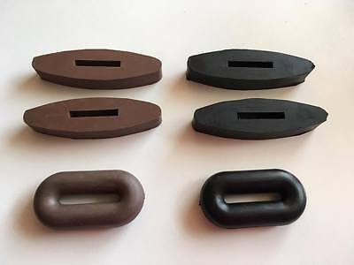 Rubber Rein or Martingale Stops Ring Black or Brown **FREE POSTAGE**