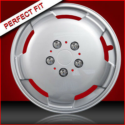"15"" Silver Domed Wheel Trims To Fit Autocruise Peugeot Boxer Chassis Motorhome"