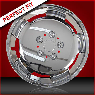 "15"" Chrome Domed Wheel Trims To Fit Autotrial Fiat Ducato Chassis Motorhome"