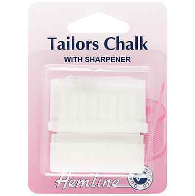 Hemline Tailor's Chalk with Sharpener