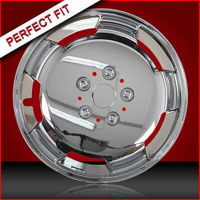 """15"""" Chrome Domed Wheel Trims To Fit Auto Sleeper Ford Transit Chassis Motorhome"""