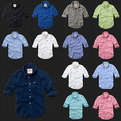 NWT HOLLISTER By Abercrombie Men Slim Fit Malibu Classic Oxford Plaid Shirt New