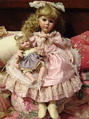 SEYMOUR MANN  MELISSA And Her BABY DOLL MISSY Porcelain