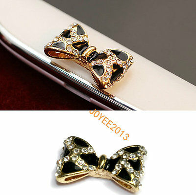 NEW 3D Bling Bow Home Key Button Sticker F Samsung Galaxy S3 S4 S5 Mega Note 2 3