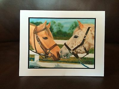 HORSE THEME NOTE CARDS (8 w/envelopes - reprint of original painting)