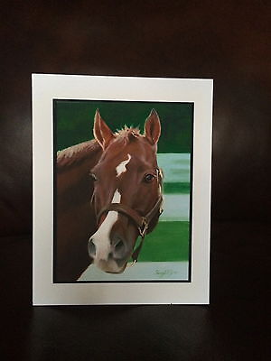 HORSE NOTE CARDS (8 w/envelopes - reprint of original painting)