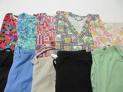 Womans Lot Of Scrubs  5 Tops, 5 Pants   Very Nice Condition   Size Xsm (Box 87)