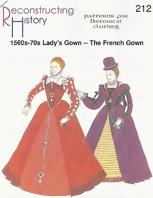 Schnittmuster RH 212: 1560s-70s French Gown