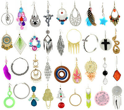 NEW LOT 10 FASHION EARRINGS Hoop Dangle Rings Necklaces Bracelets Bangles Mixed
