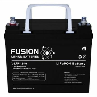 12v 40AH LITHIUM ION LiFePo4 DEEP CYCLE BATTERY CARAVAN SOLAR CAMPING SOLAR GOLF