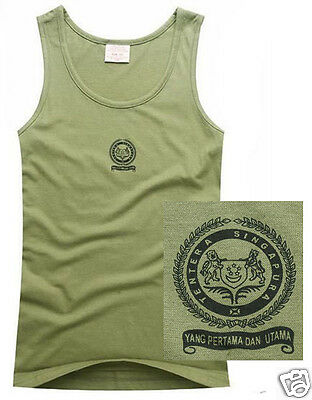 Military Supplies Singapore Army Mens Vest Straight Loose T Shirt 100% Cotton