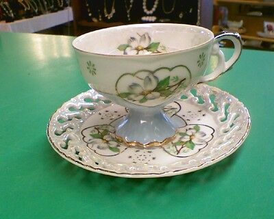 Lefton Hand Painted China Tea Cup and Saucer