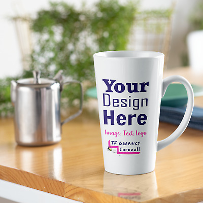 17oz Latte Mug - Custom printed with your Personalised Design.