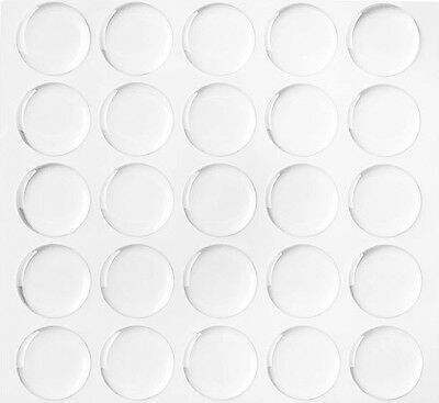 "Lot 300 1"" Dome Circle Clear Epoxy Stickers for Bottle Cap Crafts 2MM THICKNESS"
