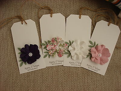 10 x Wedding Place Cards Favour Gift Tags