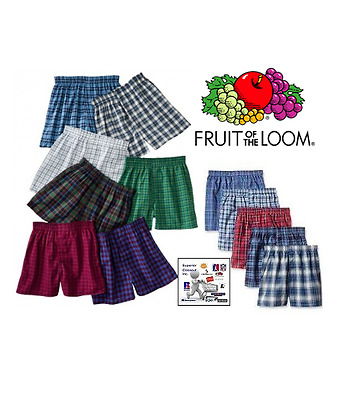 Fruit of the Loom Boy's Cotton Boxer Shorts in Famous Brand Packaging 6-Pack