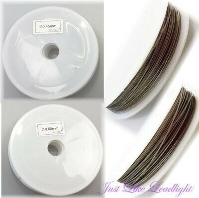 Tiger Tail Beading Wire 0.45-0.60mm SILVER ~crystal suncatcher craft jewellery