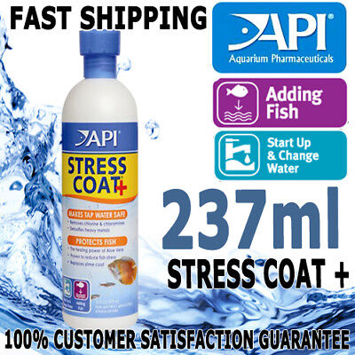 API Stress Coat + Plus Aloe Aqua Aquarium Pond Tap Water Safe Conditioner 237ml