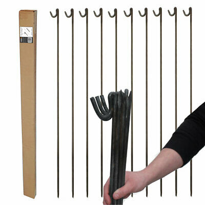 10 x 10mm STRONG METAL STEEL FENCING PINS ROAD PINS STAKES POSTS - Temp Fencing