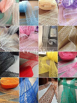VINTAGE LACE RIBBON TRIM 40mm BRIDAL Flowers Gifts craft invitations cards