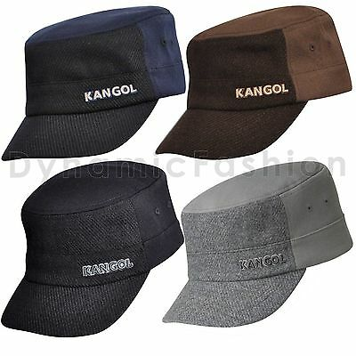 AUTHENTIC MENS KANGOL Textured Wool Flexfit Army Cap Hat K0471FA ... 76fac4fa8d6