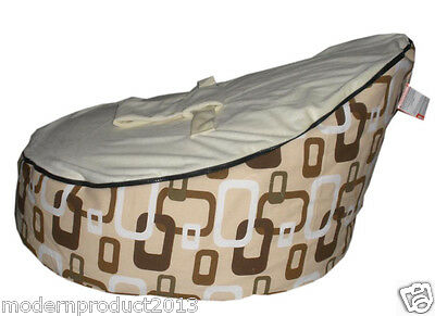 2016 New Canvas white Baby infant Bean Bag Portable Seat bed &zipper&No Filling